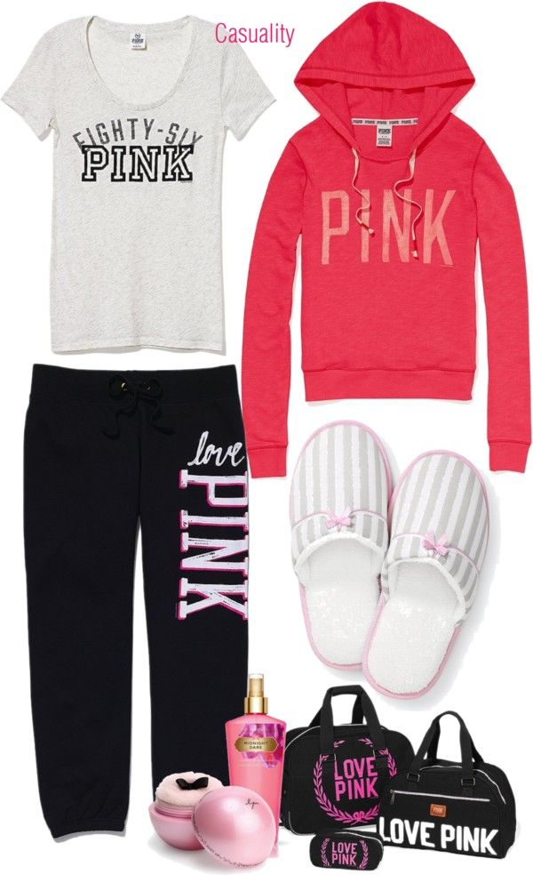 """""""Victoria's Secret Pajama Party"""" by casuality on Polyvore"""