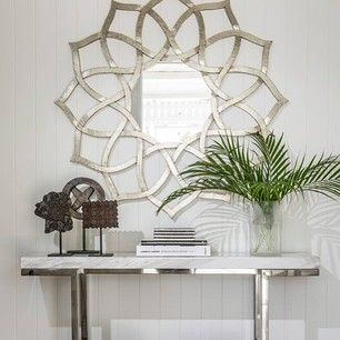 Hamptons styling of our Star Mirror by highgatehouse as seen in Queensland Homes