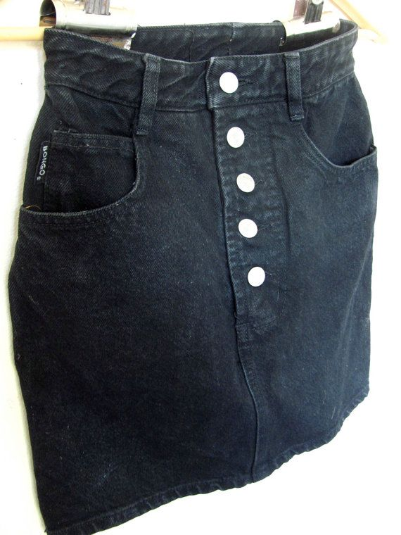 80's denim skirt