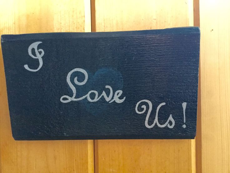 I Love Us sign- hand painted reclaimed Wood sign -reclaimed Wood love sign- Wood Anniversary Gift- Valentines Day Gift- rustic wedding decor by SunStroked on Etsy