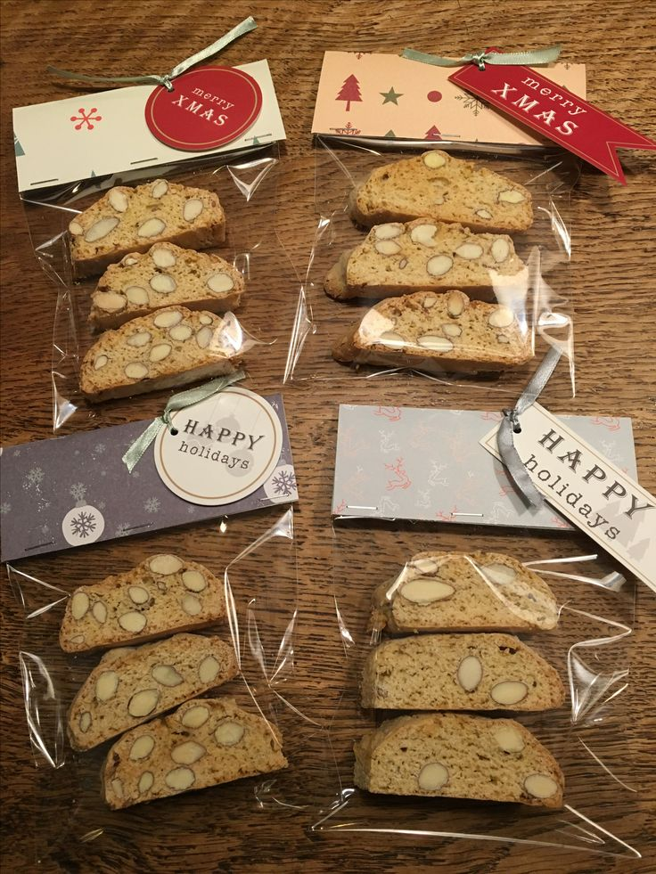 Kleine kerstcadeautjes: zelfgebakken cantuccini koekjes!