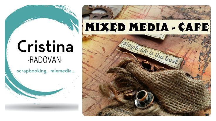 MIXED MEDIA FONDO Y TEXTURA CON SELLOS CASEROS. SCRAP TEAM'16 AGOSTO - CAFÉ - YouTube