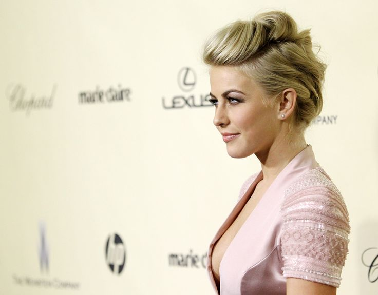 Julianne Hough's hair at the 70th Annual Golden Globes.