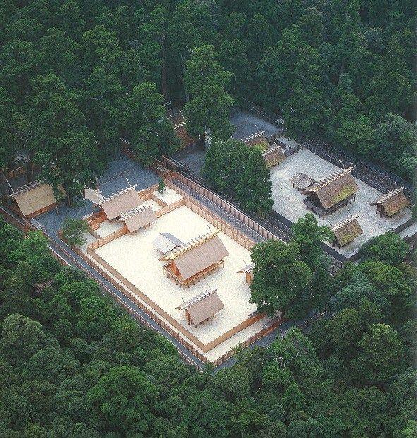 Ise Grand Shrine, Japan aerial view