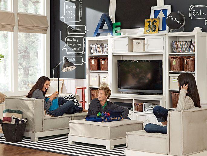 1000 images about kids tv room on pinterest pottery for Kids media room