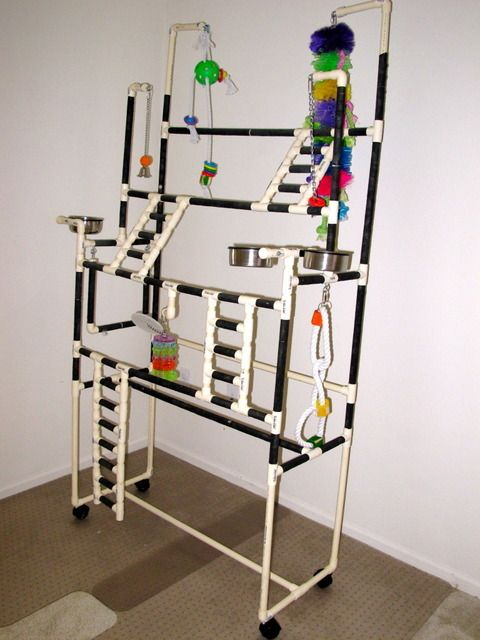 Perch Factory Pvc Parrot Bird Stand Bird Gyms Parrot Play Gyms