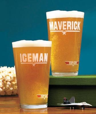 Sets of 2 Movie Theme Pint Glasses TOP GUN