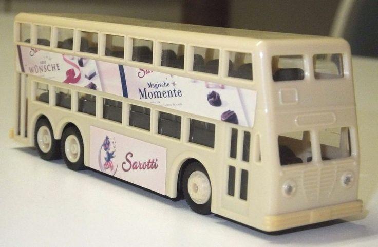 *Doppelstock-Bus*,Spur H0 1:87,Beige/Weiß,Sarotti Werbung Magische,Grell Modelle
