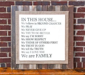 'In This House' Rustic Sign.