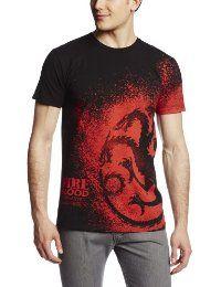 HBO'S Game of Thrones Men's Fire and Blood Splatter, Black, Large  #TShirt #Men's #GameofThrones
