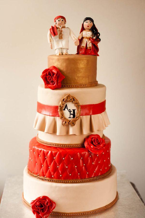 Pakistani bride and groom cake
