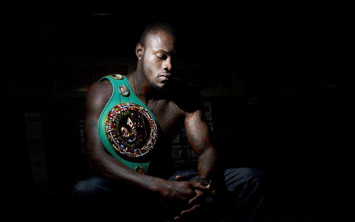 Lataa kuva Deontay Wilder, Amerikkalainen nyrkkeilijä, WBC: n Maailmanmestari, Muotokuva, nyrkkeily, WBC nyrkkeily vyö