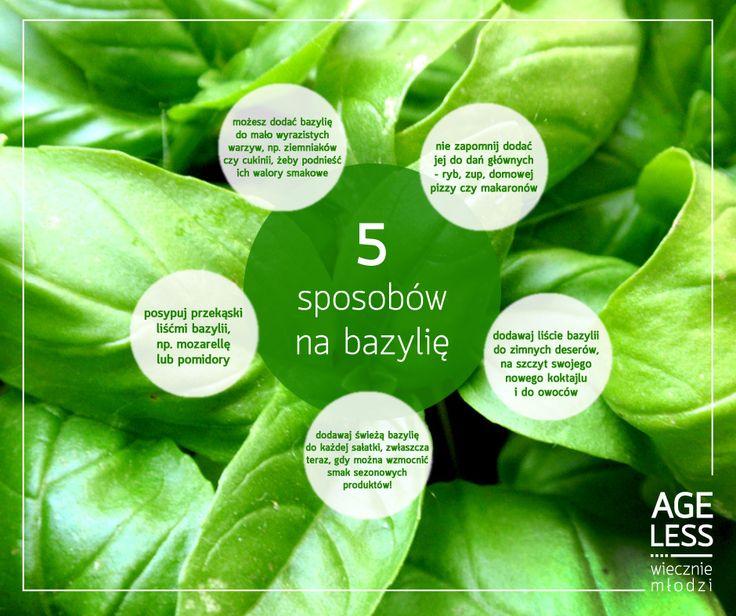 Bazylia to niedoceniana na co dzień roślina, która jednak ma korzystny wpływ na nasze zdrowie. Ułatwia trawienie, wzmacnia smak potraw, a zawarte w niej witaminy A i C zadbają o nasz wzrok i odporność. Oto 5 porad, jak można stosować ją każdego dnia :) #ageless #wieczniemlodzi #wiecznamlodosc #bazylia #zdrowie www.ageless.pl