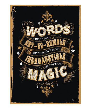 Love this Harry Potter Magic Words MightyPrint™ Wall Art on #zulily! #zulilyfinds