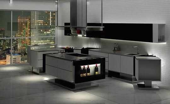 """Minimalistische keuken """"Liu"""" van Flavio Scalzo"""