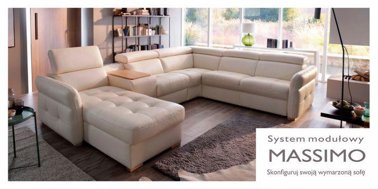 System modułowy Massimo -  idealnie dopasowany do Twoich potrzeb. Skonfiguruj sofę dokładnie taką, o jakiej marzysz . #GalaCollezione #Massimo #sofa #inspiracje #systemmodułowy #wygodnemeble #design