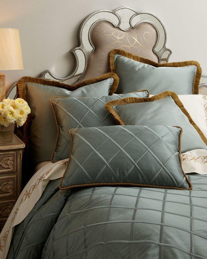 dian austin couture home king sham tan beddingsilk