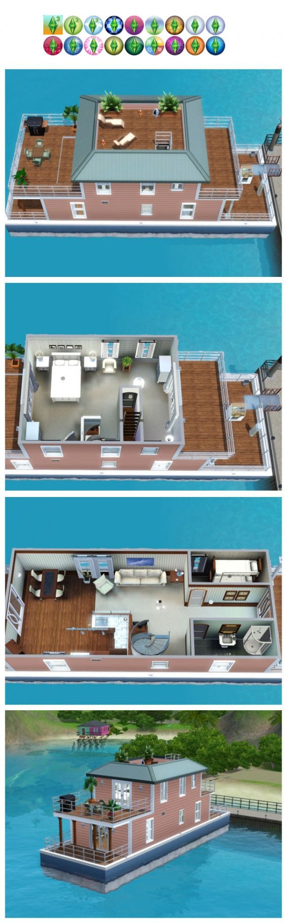 Sims 3 Finds   Edie s houseboat by Jordan at Poppy Sims. 97 best Sims freeplay house ideas images on Pinterest   House