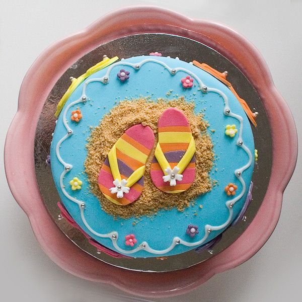 Cute flip flop cake