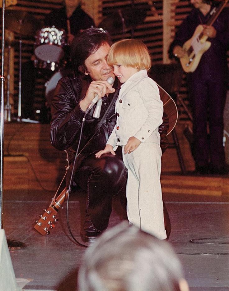 Johnny Cash and John Carter Cash