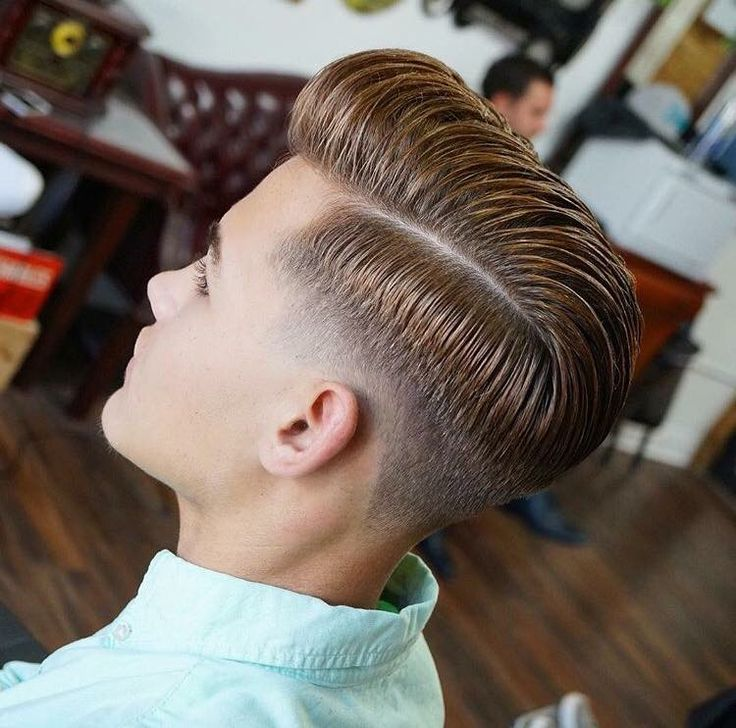 Pompadour with skin fade