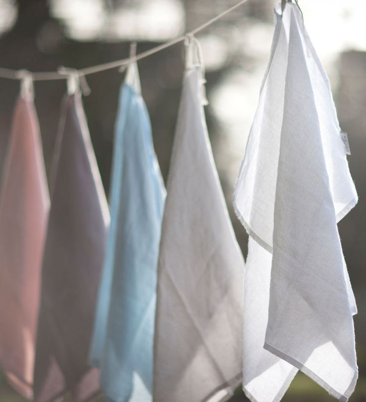 Simple Linen Hand Towels, set of two.  Choice of 4 colors. - Madison