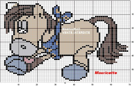 Galupy - Diddl perler bead pattern by Mauricette