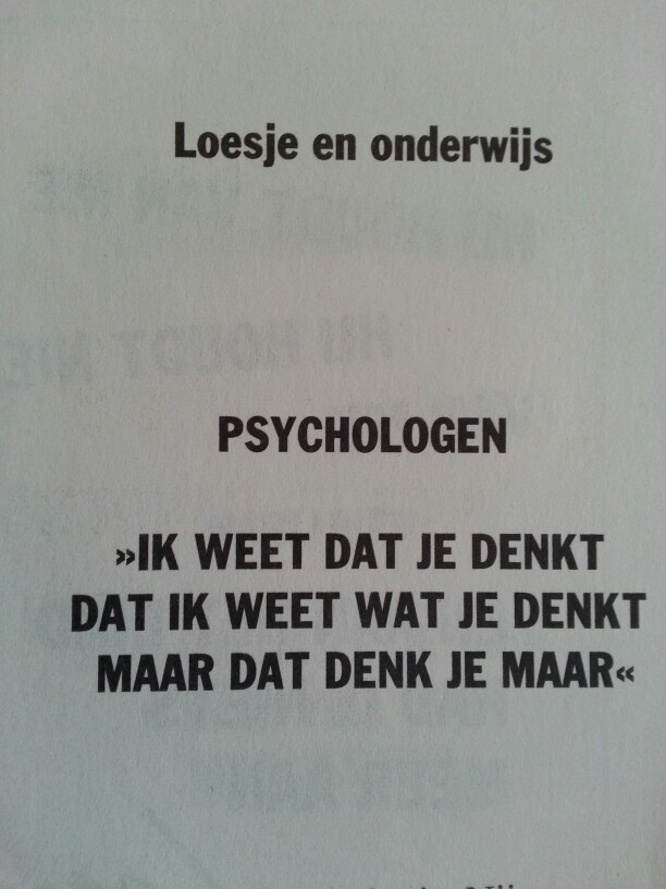 Psychologie en drijfveren van de mens ;-)