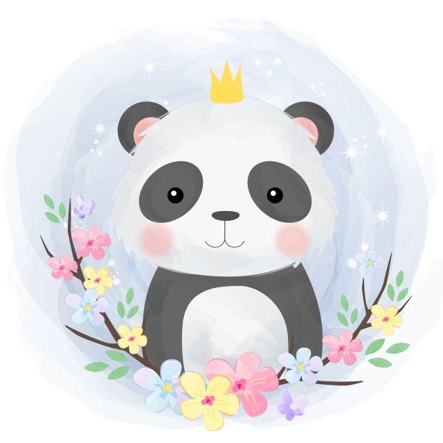Adorable Animal Baby Baby Shower Background Cartoon Character Child Children Cloud Colorfu In 2020 Panda Illustration Animal Illustration Kids Cute Animal Illustration