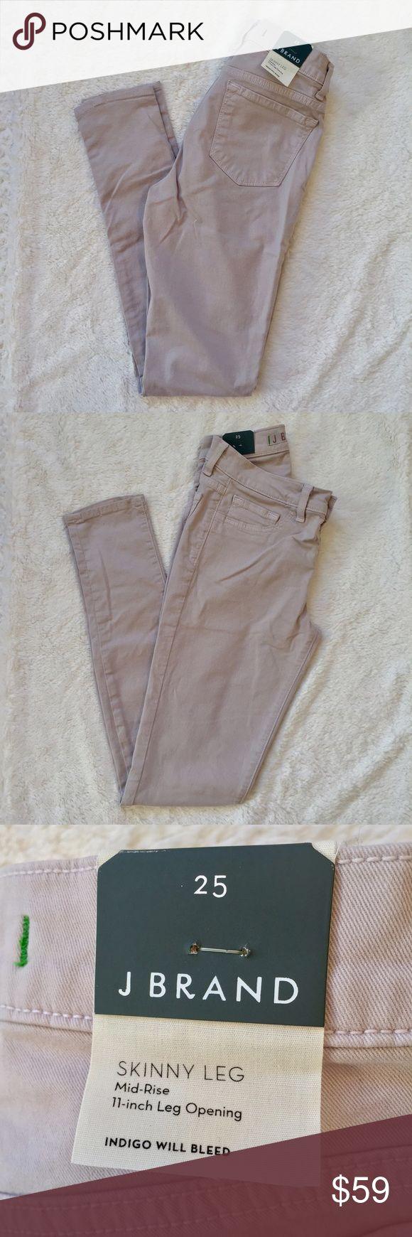 """J Brand French Grey Skinny Jeans J Brand French Grey skinnies Size 25. NWT. 28"""" inseam. J Brand Pants Skinny"""