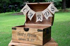 Carte boîte - boîte à cartes en bois rustique - mariage rustique carte - mariage…