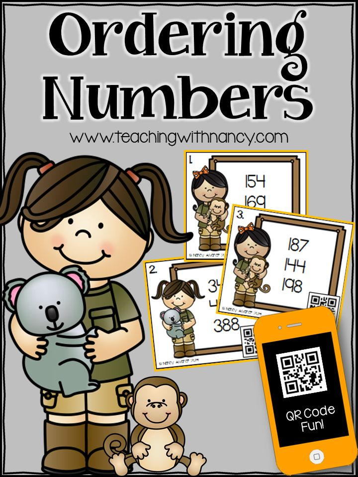 Free: Place Value: #QRCodes ordering numbers in the hundreds from least to greatest, 2nd Grade