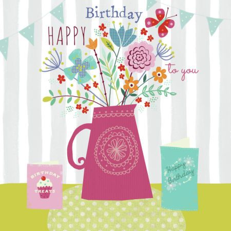 Claire Mcelfatrick - Birthday Floral Jug & Cards