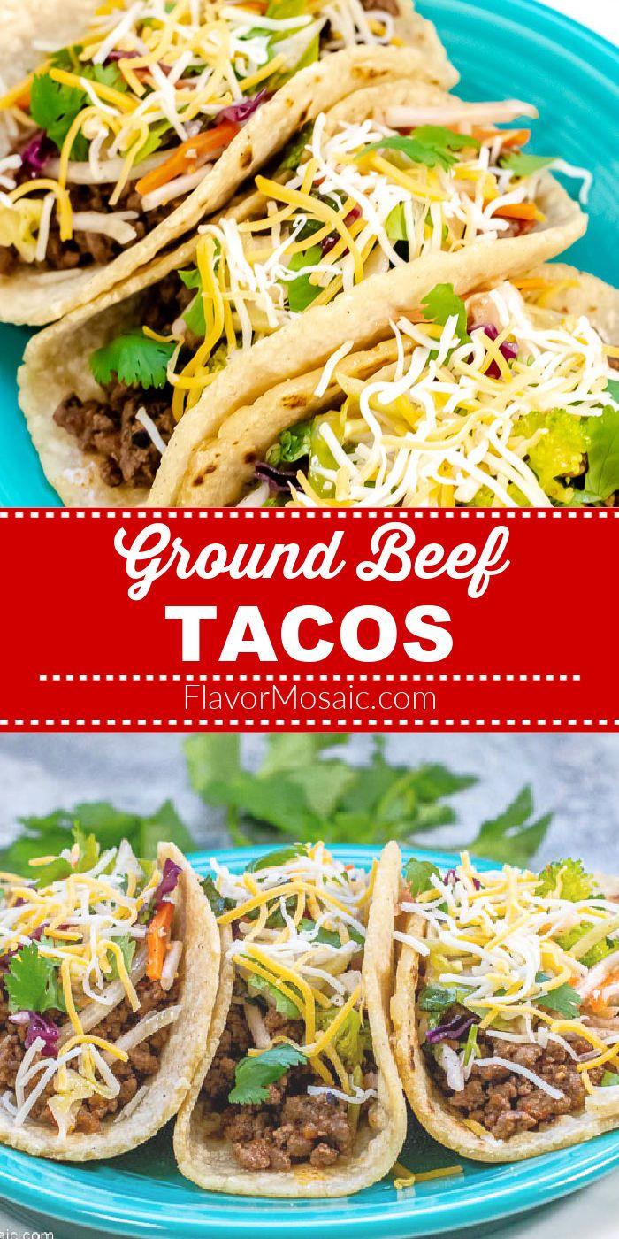 The Best Ground Beef Tacos In 2020 Ground Beef Tacos Taco Recipes Ground Beef Tacos Beef