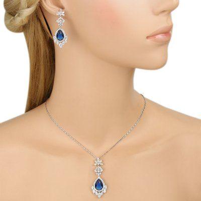 Parure Bijoux Mariage Bleu Navy par Un Jour Spécial : accessoires & décorations de mariage