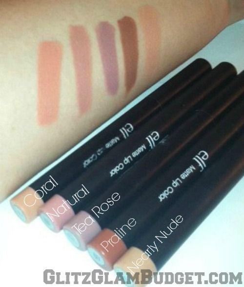 Glitz Glam Budget - A Budget Friendly Beauty Blog: ELF Cosmetics Studio Matte Lip Colors (Swatches)