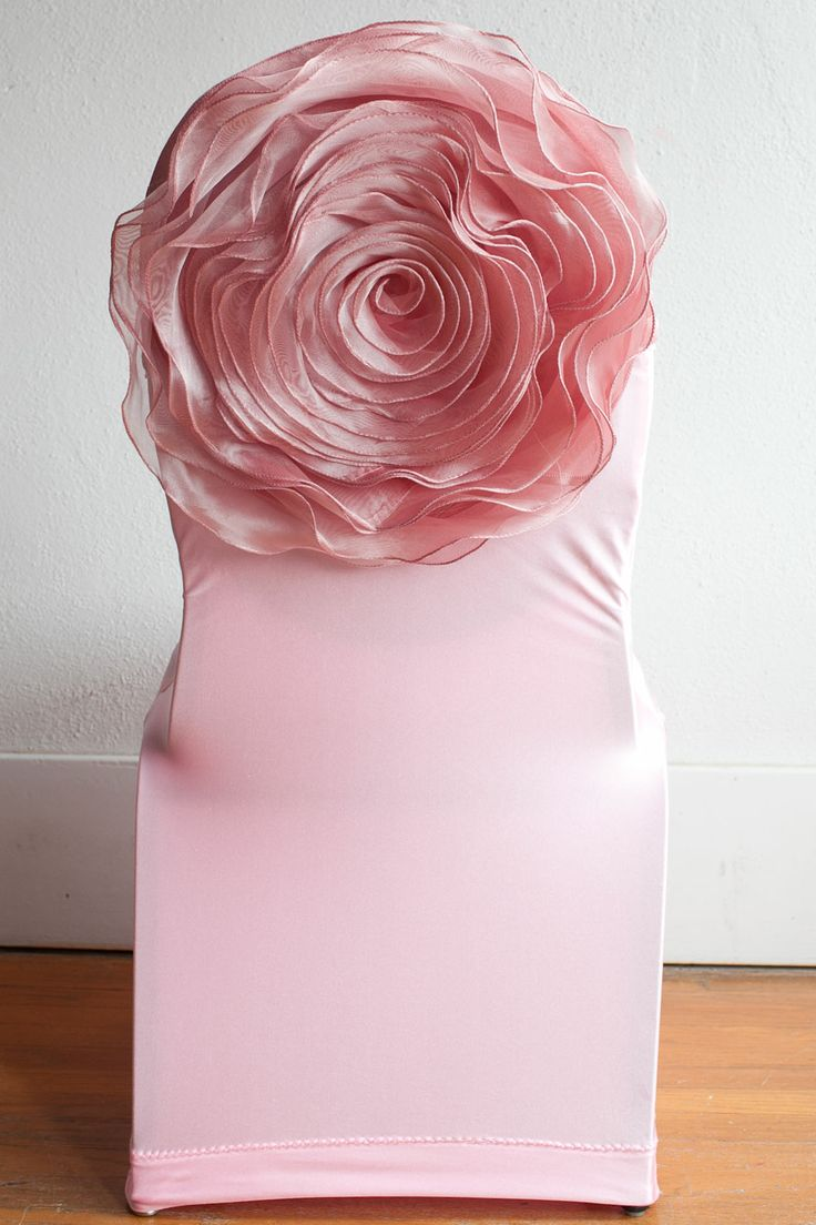 Pink Lycra Chair Cover Pink Flower Chairback Decor Www