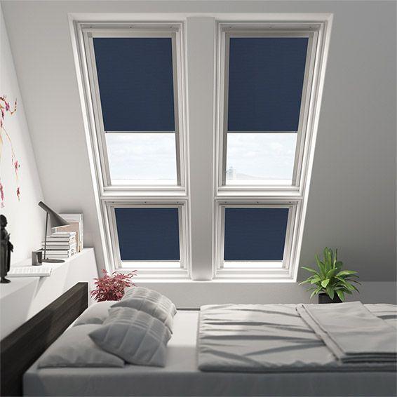 elements royal blue blackout blind for fakro windows