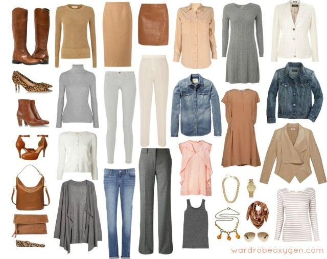 neutros ligeros otoño invierno colección de vestuario cápsula armario