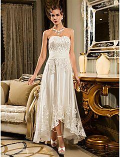 Lanting Bride® Trapèze Petites Tailles / Grandes Tailles Robe de Mariage - Chic & Moderne / RéceptionInspiration Vintage / Petites Robes