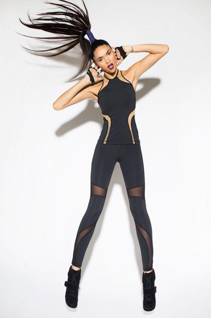 Michi NY #fashercise http://www.uksportsoutdoors.com/product/the-zone-z681daz-smooth-velourlycra-capri-leggings-black-size-28/