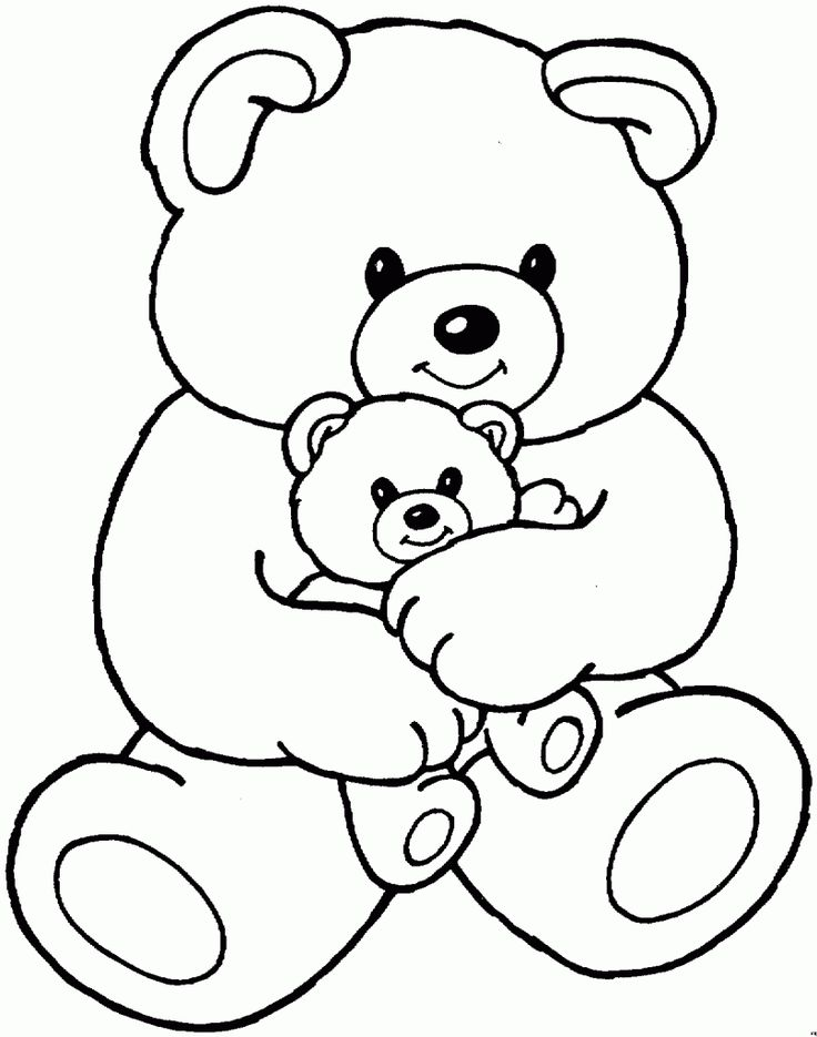 Beau Bear Coloring Pages   Preschool And Kindergarten