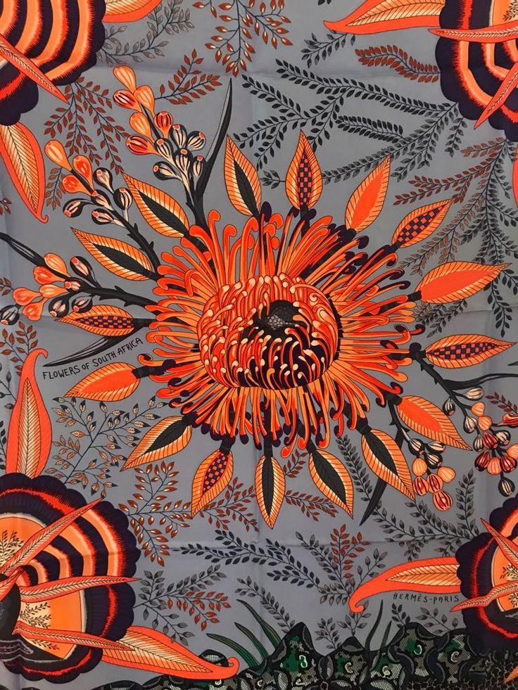 """Ardmore Hermes """"Flowers of Africa"""" scarf"""