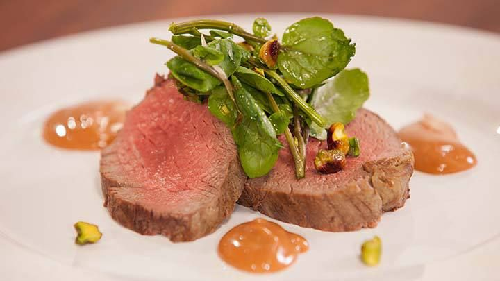 Fillet of Beef with Red Win Mayonnaise