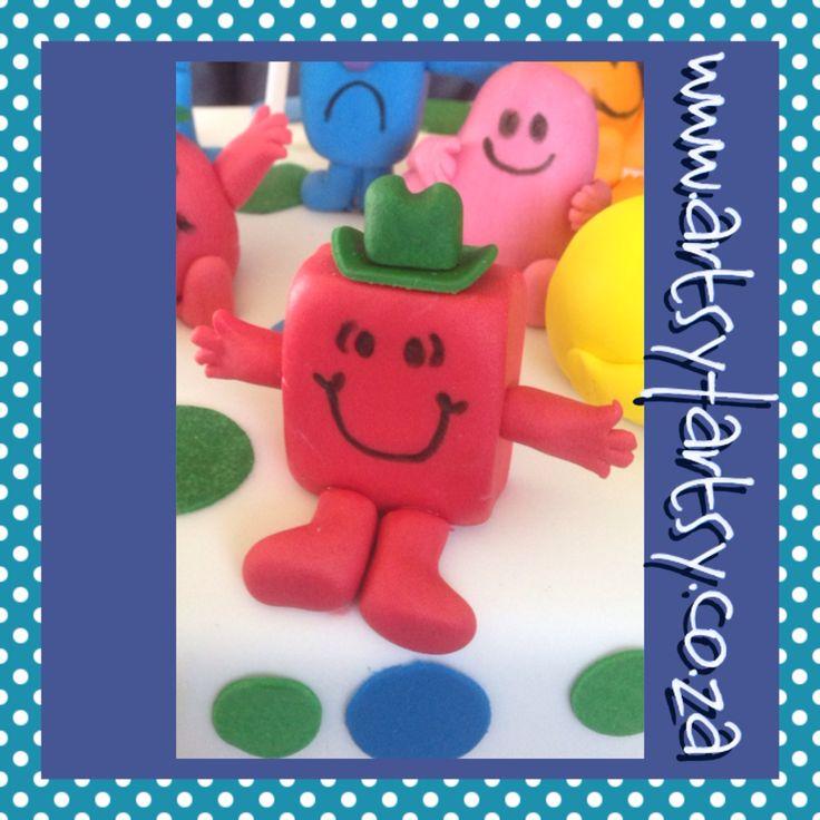 Mr Men, Mr Strong Sugar Figurine #mrmensugarfigurine #mrstrongsugarfigurine