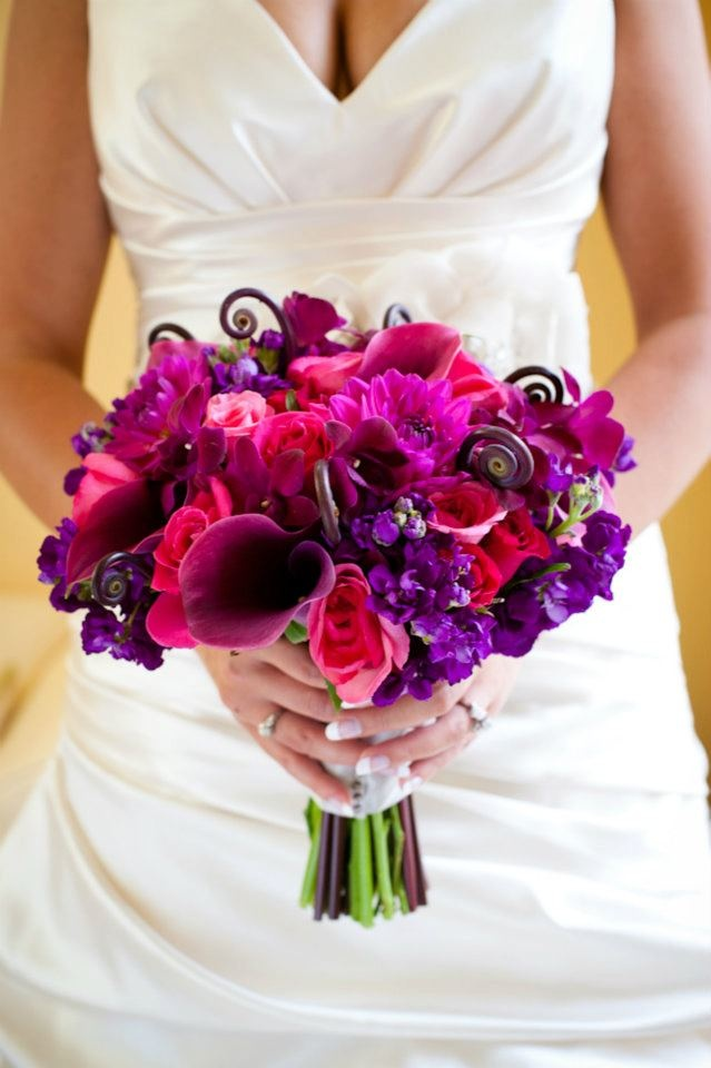 pink and purple wedding bouquets purple and pink bouquet wedding day 6560