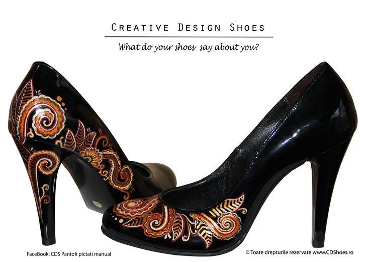 Abstract Mood - pantofi pictati manual