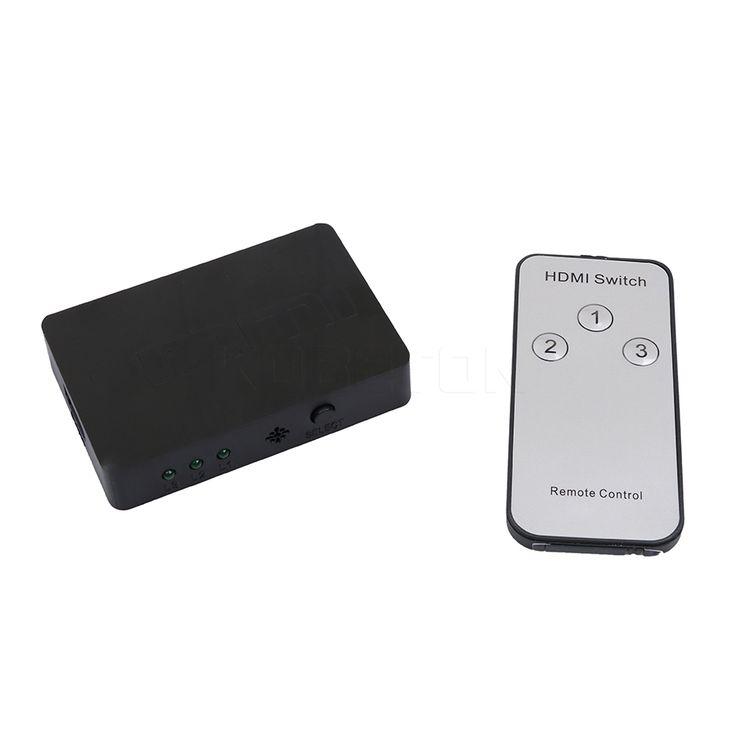 3x1 Mini HDMI Switcher Splitter 3 Ports with Remote Control hdmi Switch 3D 1080P HD Auto Spliter for DVD TV Box A/V Receiver //Price: $8.99 & FREE Shipping //     #hashtag1