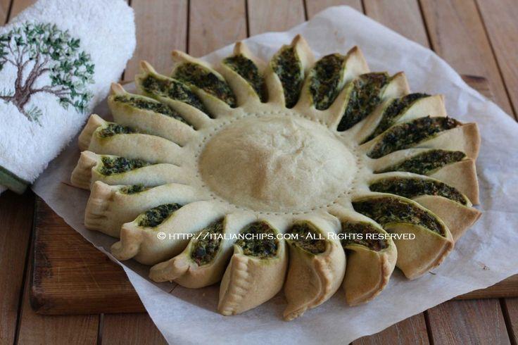 Une belle et tarte aux épinards Ensoleillée JOLI