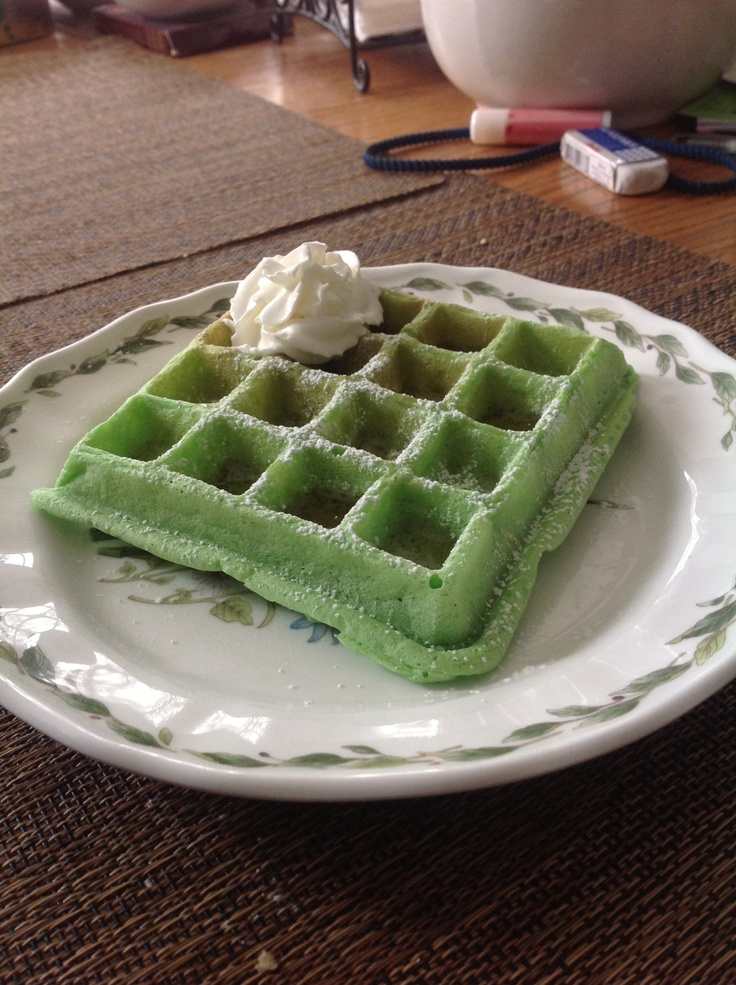 Green waffle, Waffles and Green on Pinterest